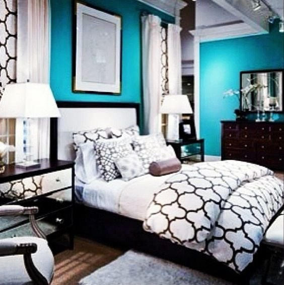 Best 22 Best Black White And Teal Bedroom Images On Pinterest Home Ideas Bedroom Ideas And For With Pictures