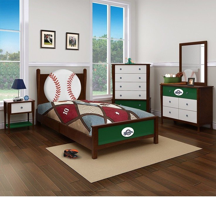Best Milwaukee Brewers Bedroom In A Box Major League Baseball Furniture Grady S Room Box Bedroom With Pictures