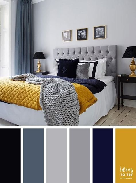 Best Grey Navy Blue And Mustard Color Inspiration Yellow And With Pictures