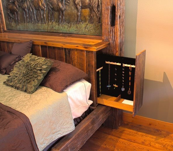 Best Rustic Bed By Daniel Parker This Bed Features A Hidden With Pictures