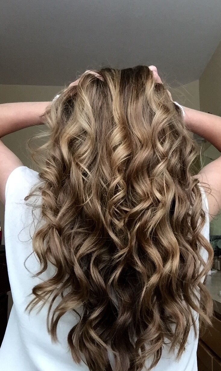 Free Curled Hair With A Wand H A I R Curly Hair Styles Wallpaper