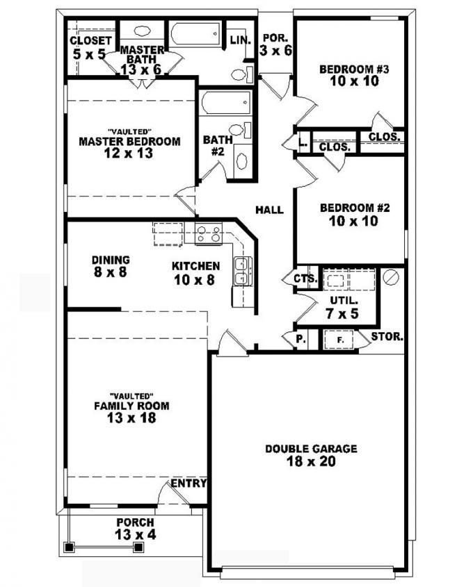 Best 653710 One Story Country Style 3 Bedroom 2 Bath With Pictures