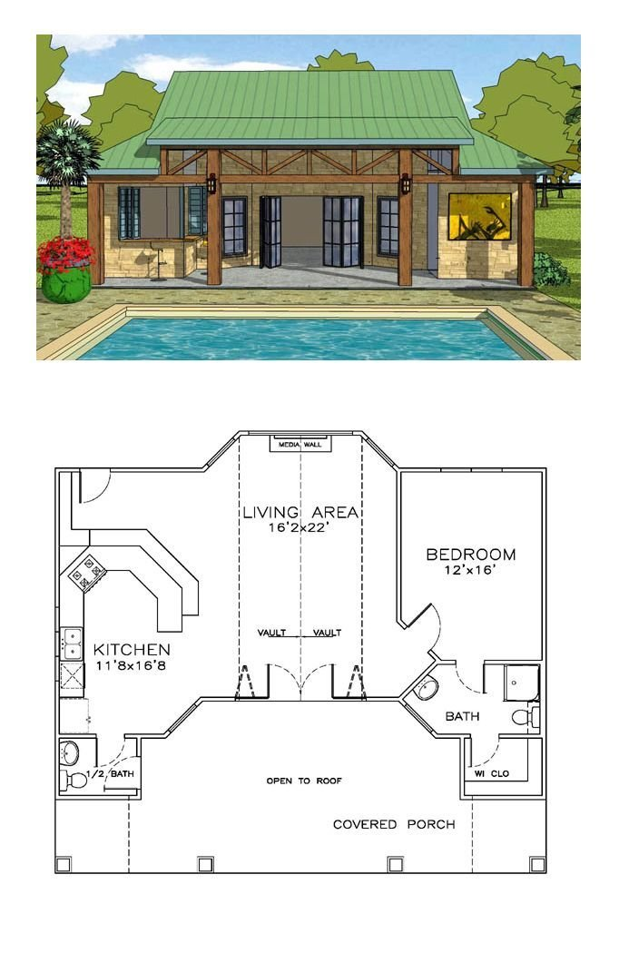 Best 25 Pool House Plans Ideas On Pinterest Tiny Home With Pictures