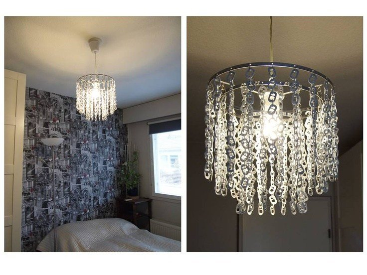 Best Diy Bedroom Lamp From Can Tabs My Own Diy Projects Can With Pictures