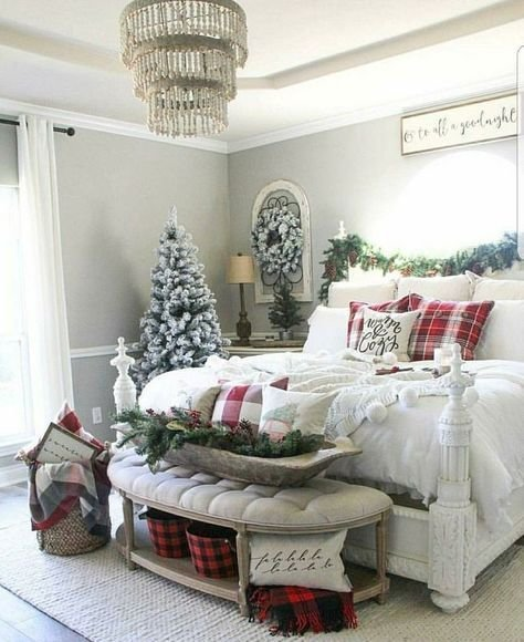Best 30 Cozy Winter Bedroom Decorations For Christmas With Pictures