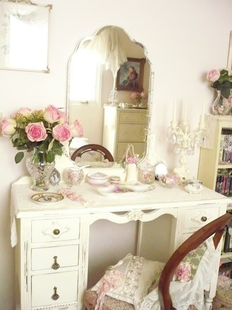 Best Vanity And Pretty Unpainted Mirror And Roses Ideas With Pictures