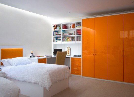 Best Gloss Orange Wardrobes High Gloss Orange Contemporary With Pictures