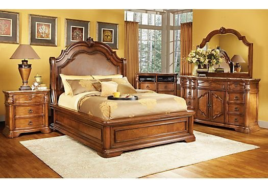 Best Rosabelle King Dark Pecan 5Pc Panel Bedroom New Master Bedroom King Bedroom Sets Queen With Pictures