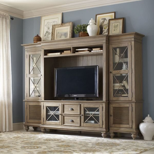 Best Birch Lane Templeton Media Center Future Home In 2019 Entertainment Center Decor With Pictures