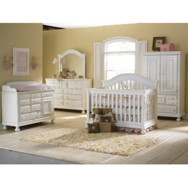 Best Creations Baby Summers Evening 4 In 1 Convertible Crib Collection Rubbed White Nursery With Pictures