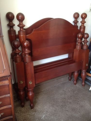 Best Details About Pair Cherry Twin Vintage Poster Beds In 2019 Beds Cannonball Bed Antique Beds With Pictures