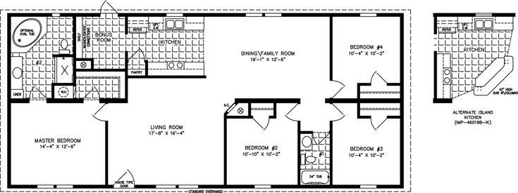 Best Manufactured Home Floor Plan The Imperial • Model Imp With Pictures