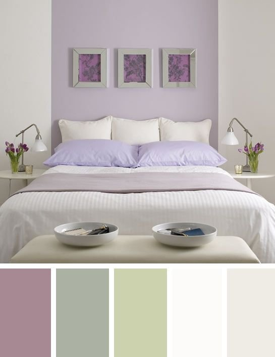 Best Purple And Sage Green Bedroom Colour Scheme Master With Pictures