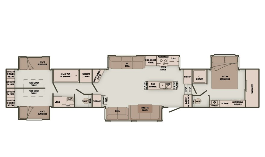Best Image Result For 3 Bedroom 5Th Wheel New House Rv With Pictures