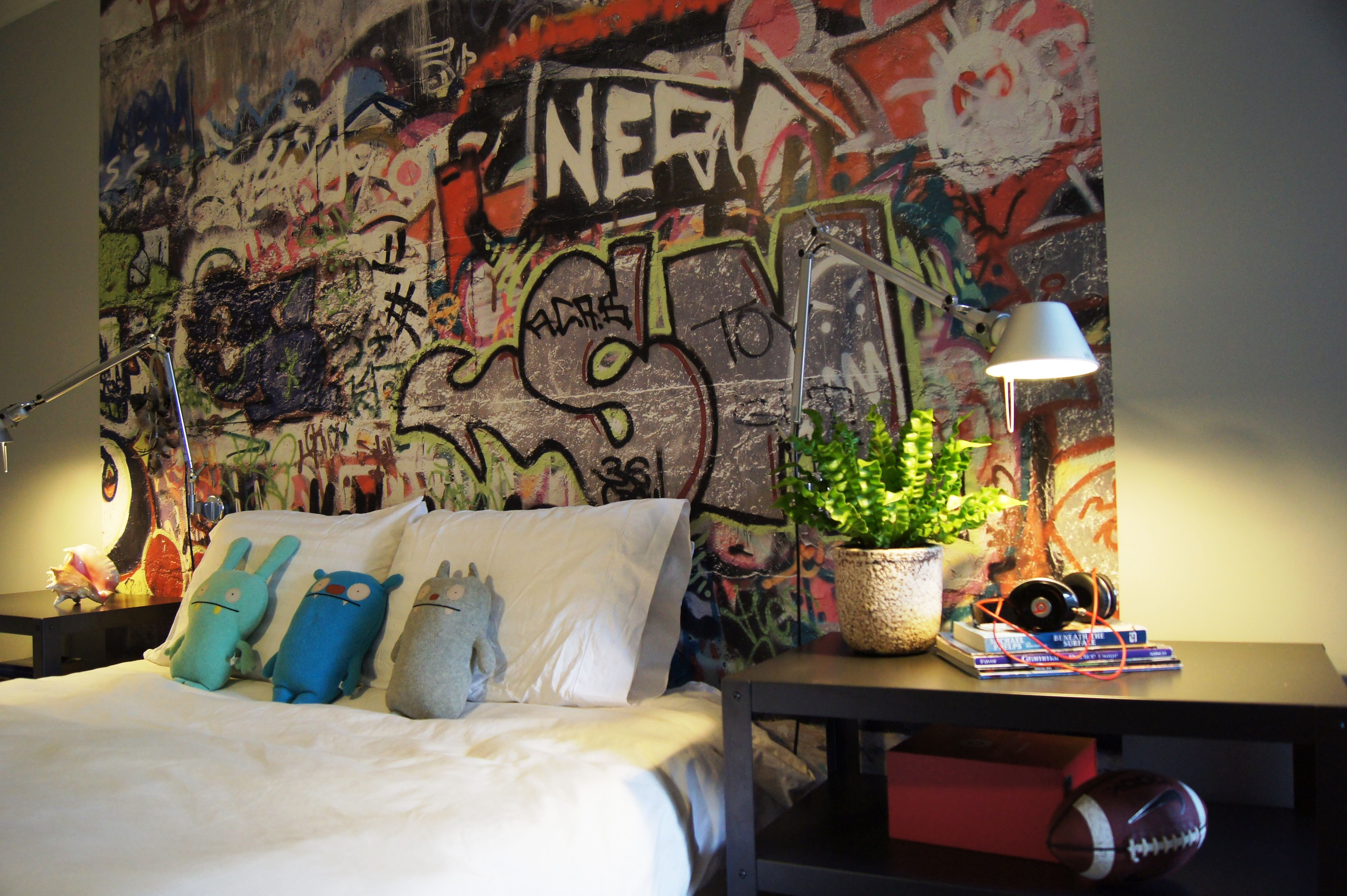Best Teenage Boys Room Graffiti Interiors Boys Room Decor With Pictures