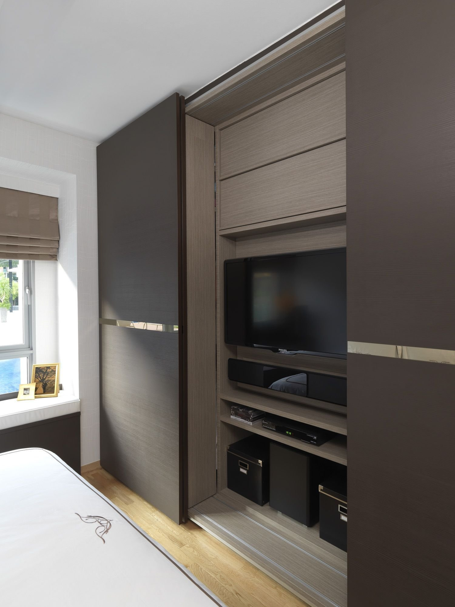 Best Sliding Wardrobe C*M Tv Wardrobe Santosh Condominium With Pictures
