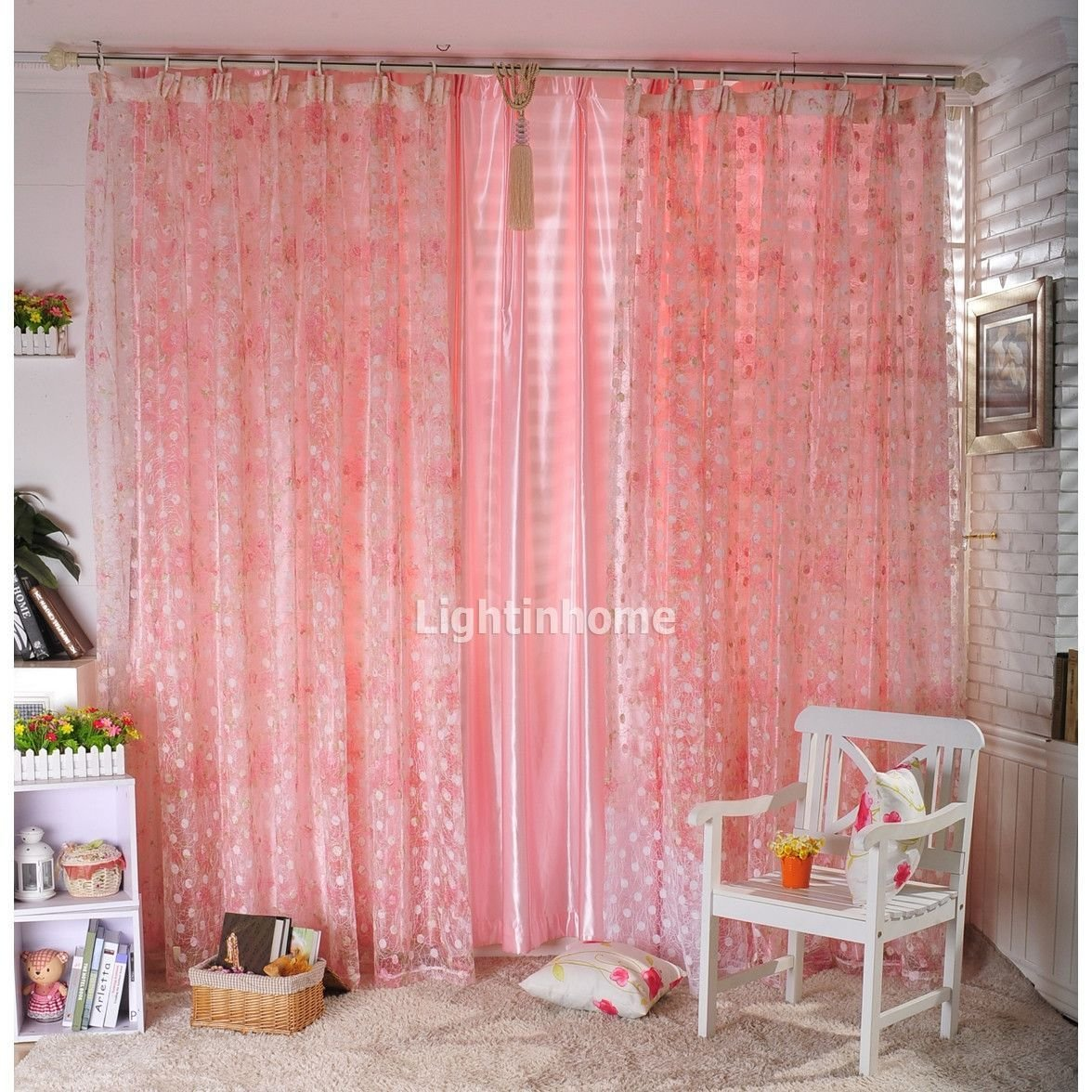 Best Sweet Pink Bedroom Curtains For Girls Bedroom Accessories With Pictures