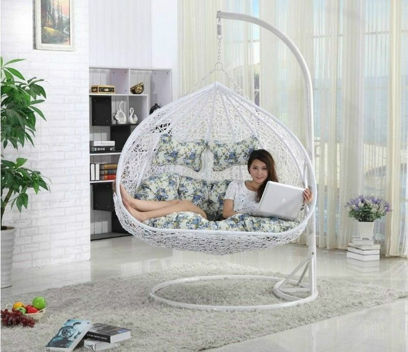Best Outdoor Teardrop Swing Chair Two Seat Hanging Papasan With Pictures