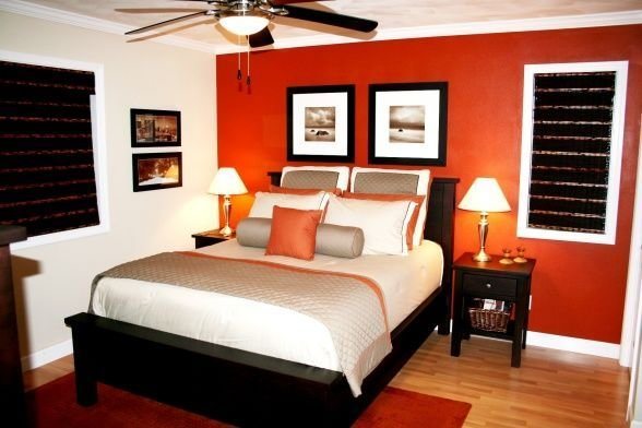 Best Burnt Orange Accent Wall For My Bedroom Loving It Found With Pictures