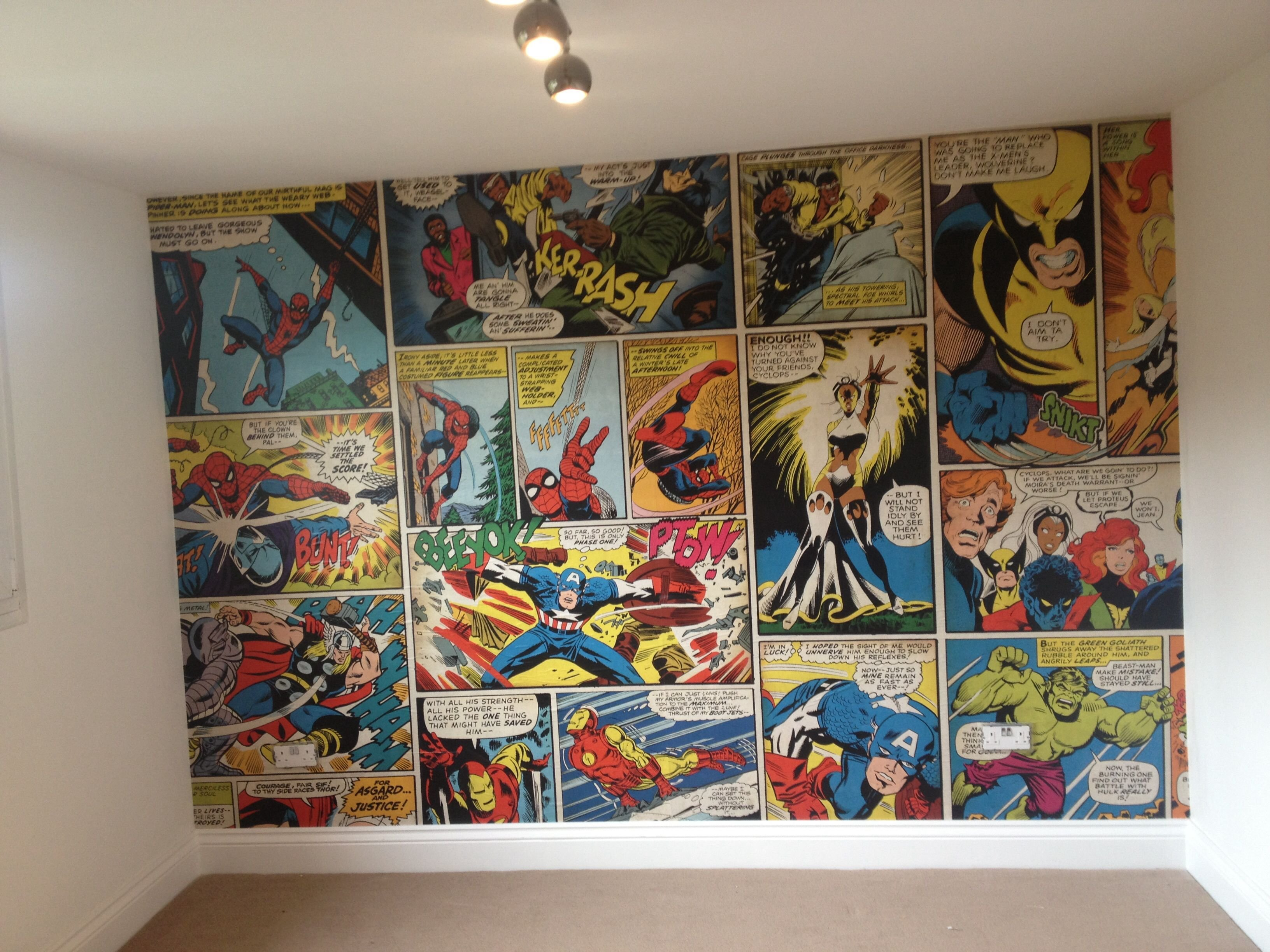 Best Marvel Comic Wallpaper Ronnie S Bedroom With Pictures