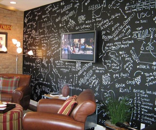 Best Chalkboard Wall Paint Every Time Someone New Comes Over They Can Sign Their Name Or You Could With Pictures