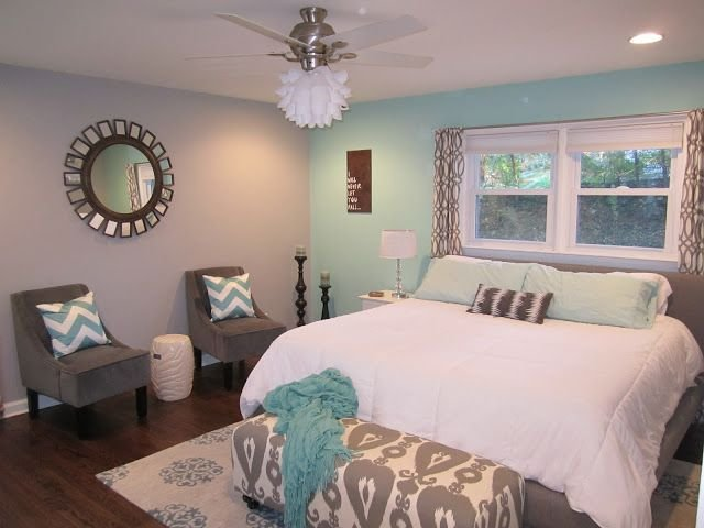 Best Teal And Grey Master Bedroom With Chevron Master Bedroom With Pictures