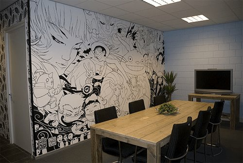 Best Awesome Wall Mural Anime Black And White Art In 2019 With Pictures
