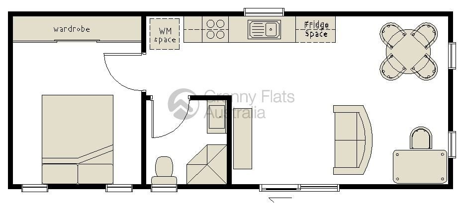 Best 1 Bedroom Granny Flat Archives – Granny Flats Australia With Pictures Original 1024 x 768