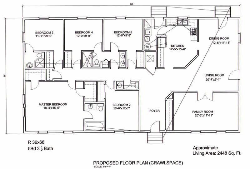 Best 5 Bedroom Floor Plans 36 X 68 5 Bedroom 3 5 Bath 2448 Sq With Pictures