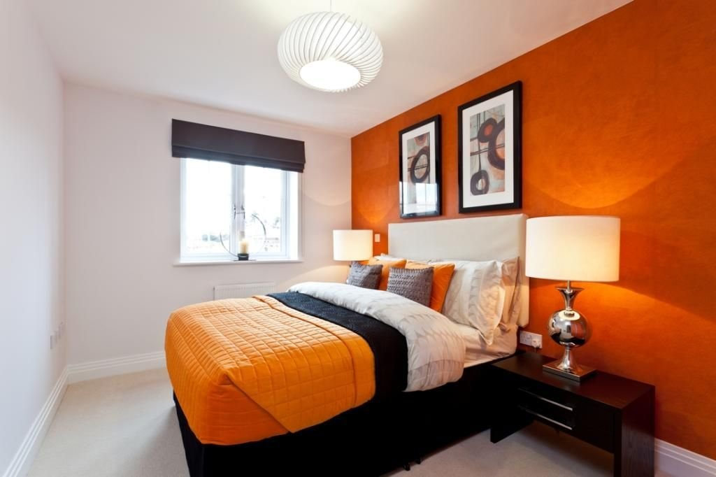 Best Interior Design Bedroom White And Orange Ideas Ideas For With Pictures