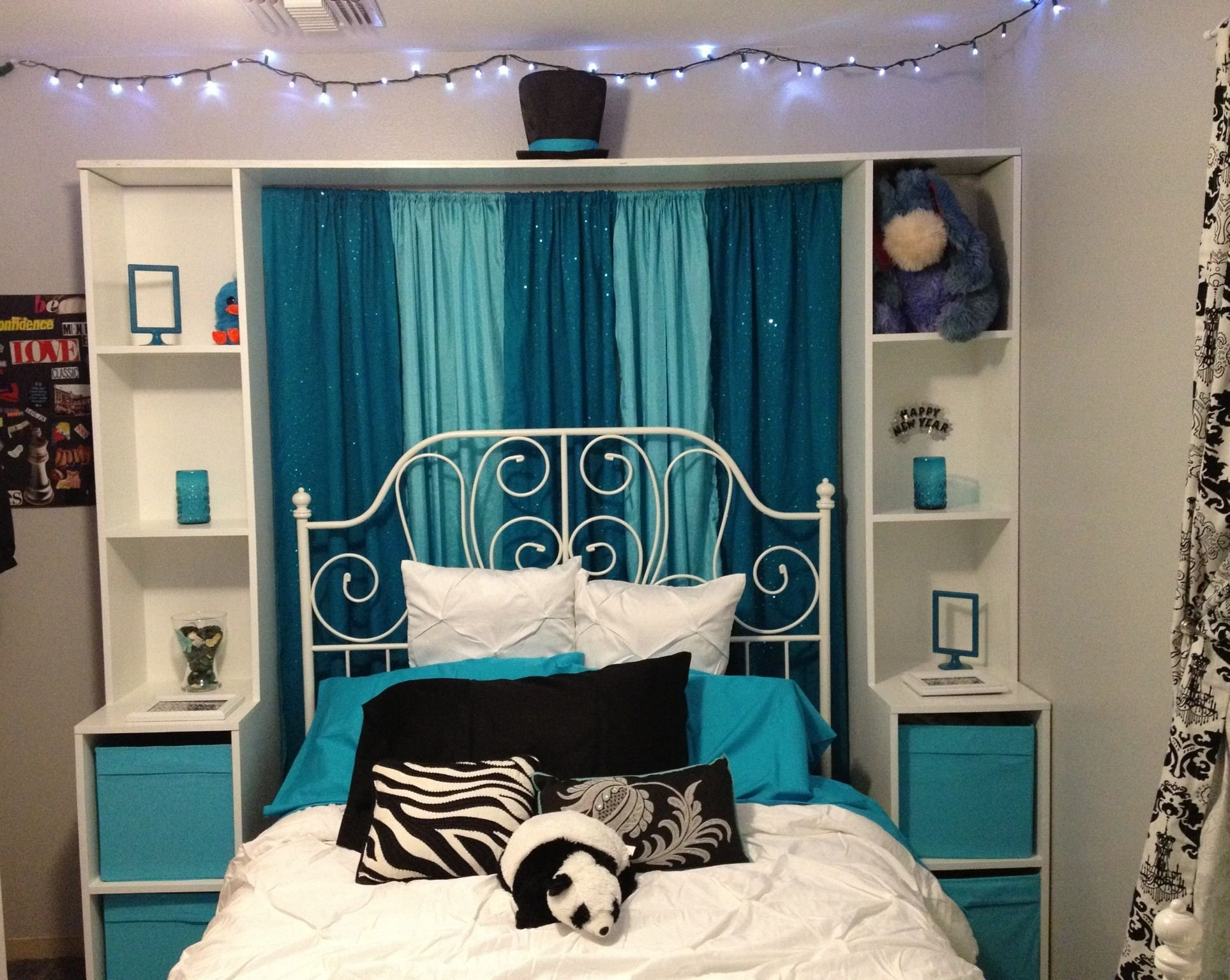 Best Teal And Aqua Black And White Bedroom Redo For My 14 Year Old So Pretty Bedrooms Teal With Pictures