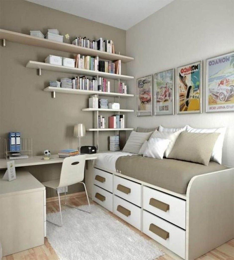 Best Bedroom Natural Small Bedroom Office Ideas With Creative Book Storage Small Bedroom Office With Pictures