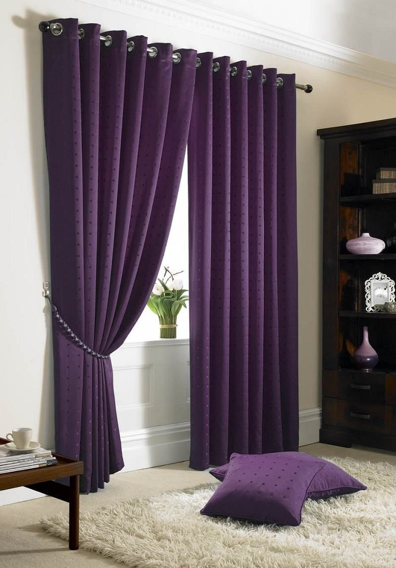 Best Dark Purple Curtains Madison Eyelet Curtains Purple With Pictures