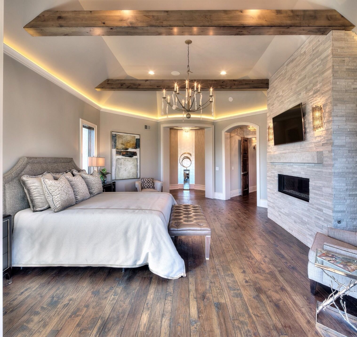 Best Master Bedroom Wood Floors Wood Beams My House With Pictures