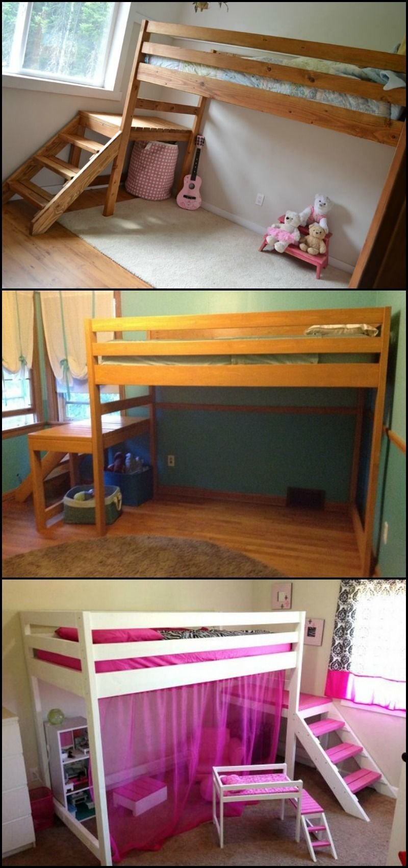 Best How To Build A Loft Bed With Stairs Diy For All With Pictures