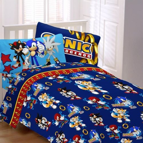 Best Sonic The Hedgehog Bed Spread Sonic Speed Child Bed Sheet Set Walmart Com Room Ideas With Pictures