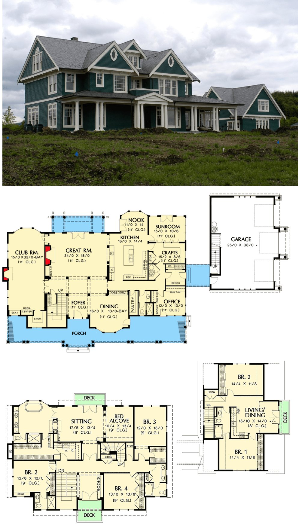 Best Plan 69078Am Farmhouse With Lots Of Amenities Beautiful With Pictures