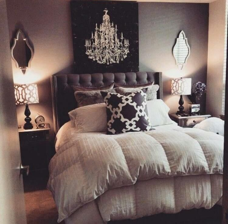 Best Plush Bed Decorations Enhance This Warm Grey Bedroom Ideas With Pictures