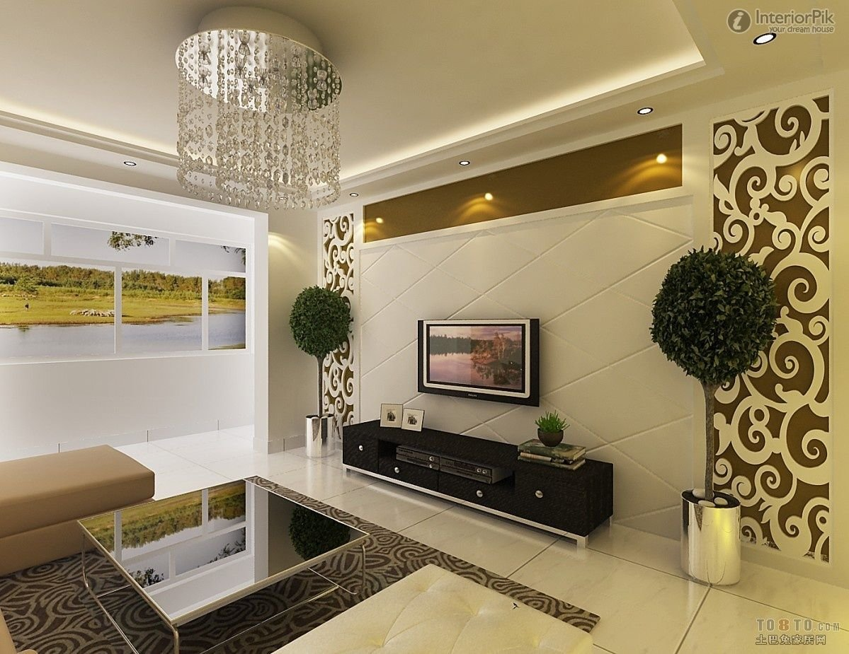 Best Stylish Pop Ceiling Designs For Living Room With Flat With Pictures