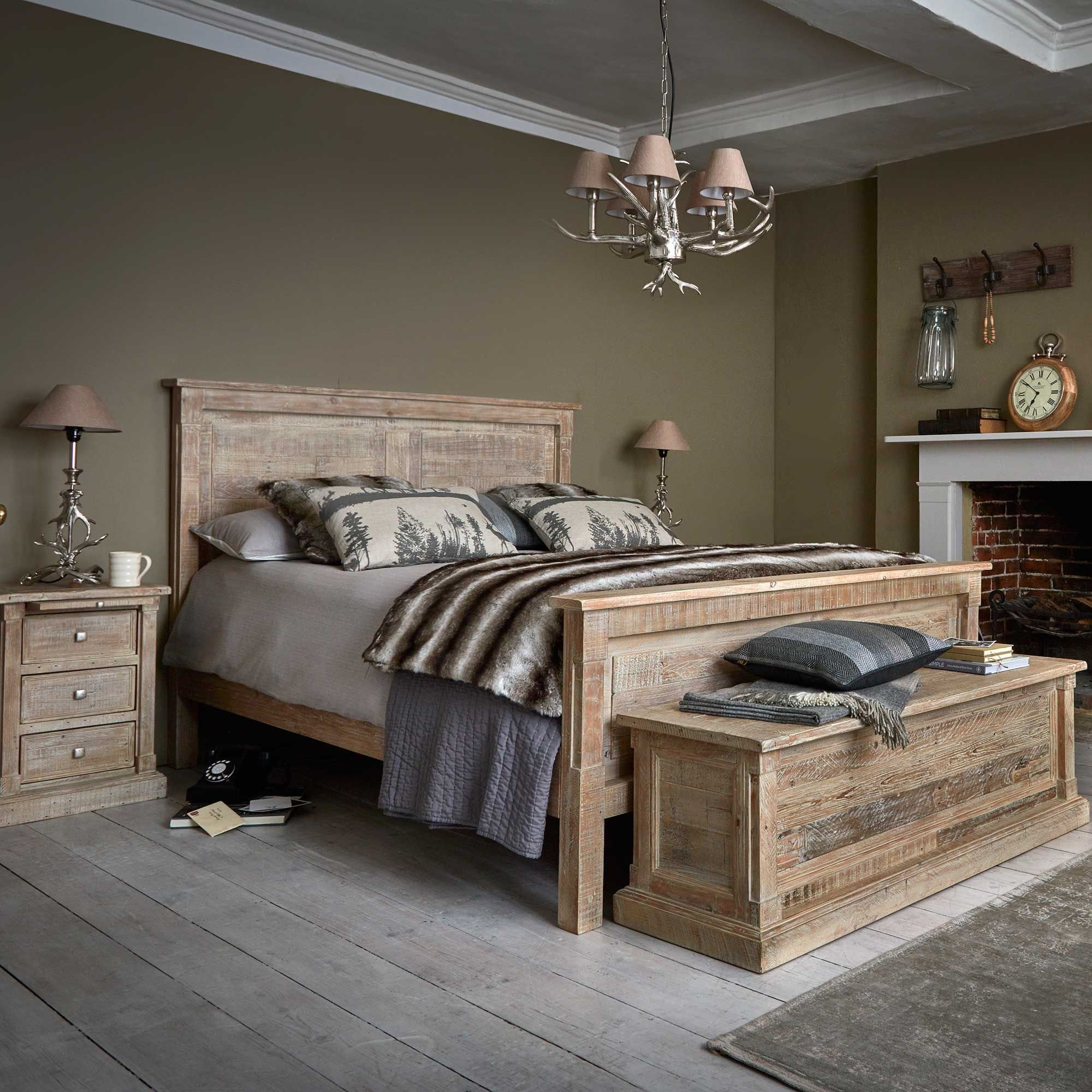 Best The Austen Bed Frame Is Made From Reclaimed Wood With A With Pictures