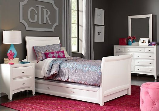 Best Shop For A Ivy League White 6 Pc Twin Sleigh Bedroom At With Pictures