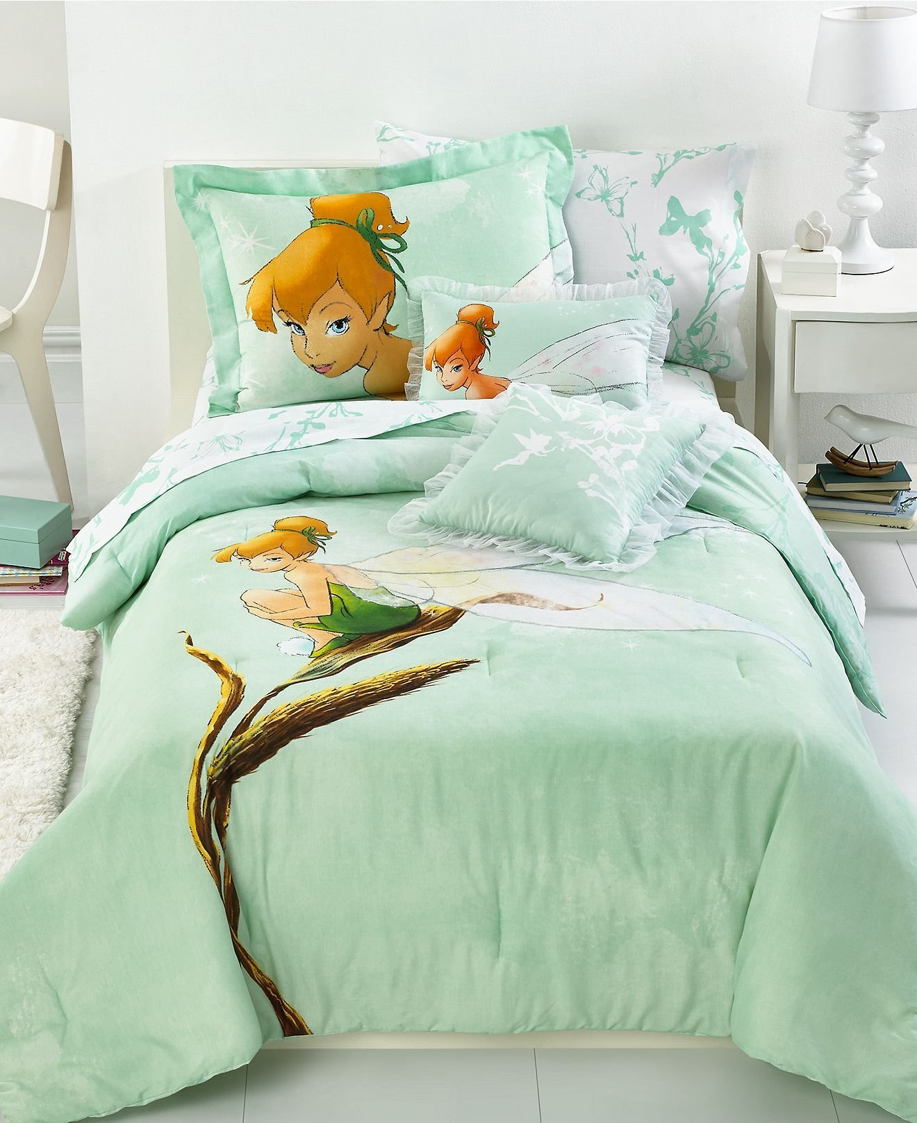 Best Disney Bedding Tinkerbell Tink Watercolor Twin Comforter With Pictures