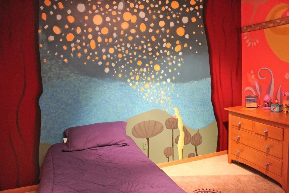 Best Tangled Inspired Room I Painted For My Younger Sister All With Pictures