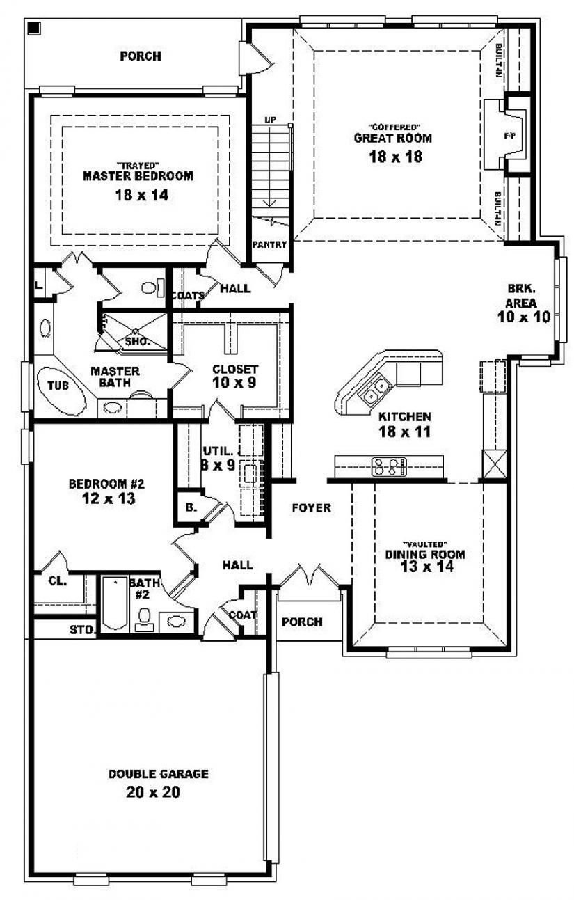 Best 654287 One And A Half Story 4 Bedroom 3 Bath French With Pictures