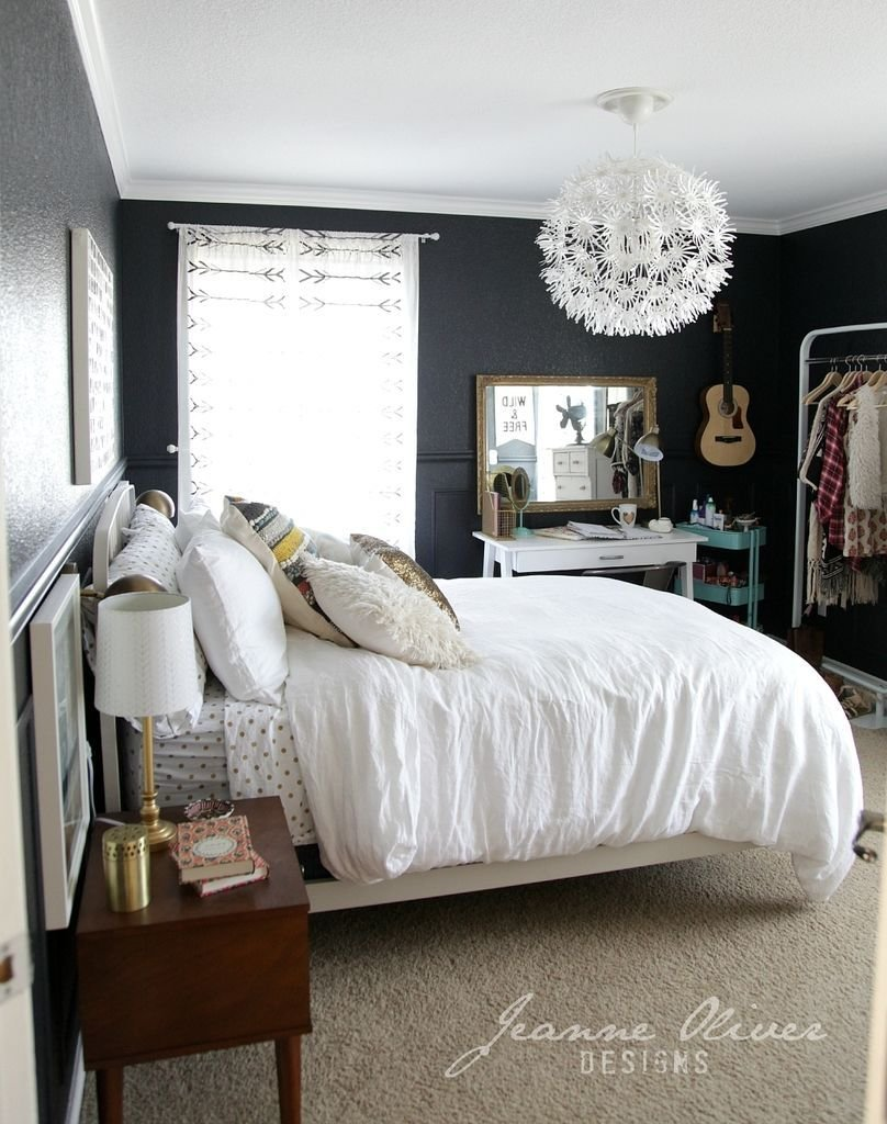 Best 9 Rooms With Black Walls Dream Room T**N Bedroom With Pictures
