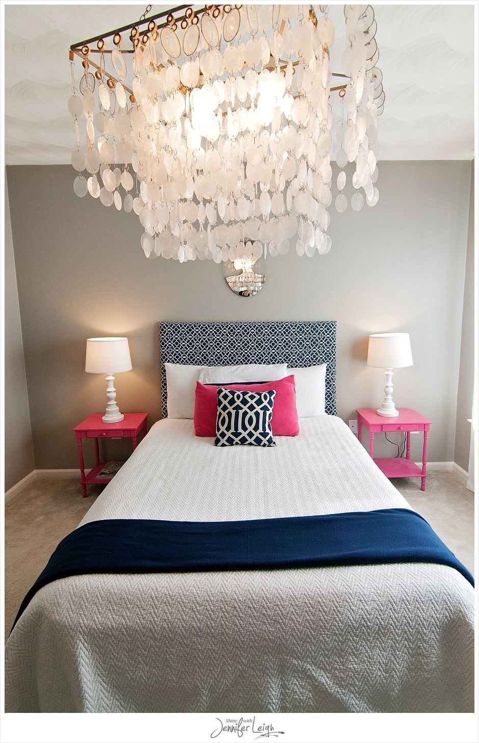 Best Navy And Pink Bedroom With Chandelier How Could You Say No With Pictures