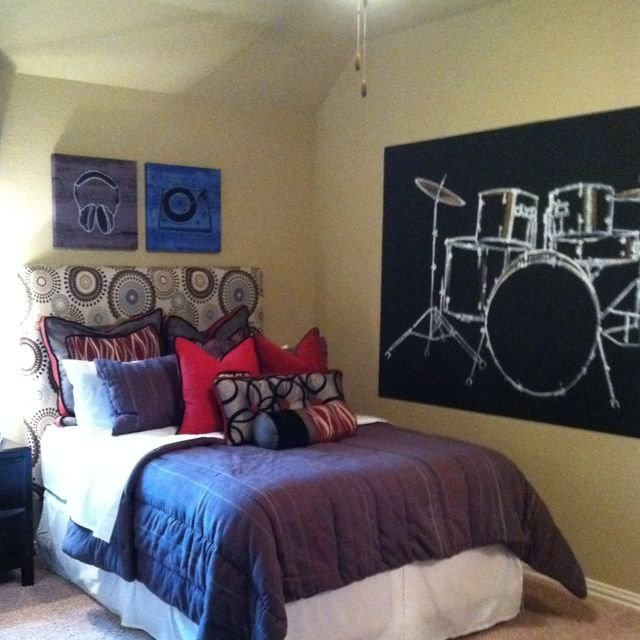 Best Music Themed Boy Room For The Wall In Boys Room Music With Pictures