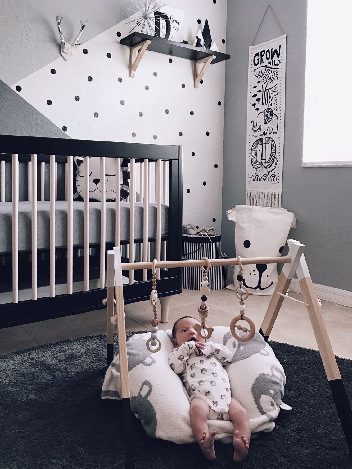 Best Monochrome Zoo Nursery Babalooni Zoo Nursery Baby Bedroom Baby Boy Rooms With Pictures