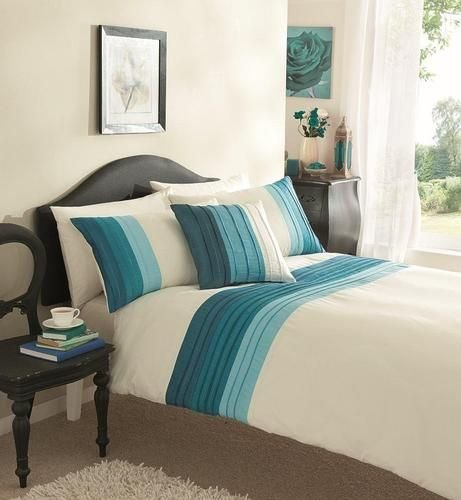 Best Cream Teal Duvet Set Bedrooms Duvet Sets Bed Covers Bed With Pictures