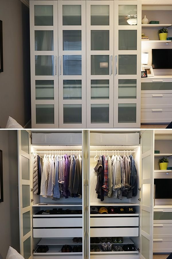 Best The Ikea Home Tour Squad Built A Custom Pax Wardrobe In With Pictures